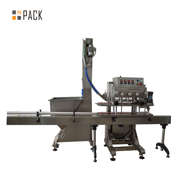 Automatisk 6 hjul Linear Trigger Capping Machine 3