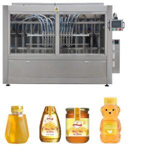Automatisk Servo-stempeltype saus honning syltetøy høy viskositet væske fylling Capping merking maskin linje